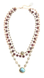Ela Rae 3 In 1 Ara Necklace Hematite Garnet Pyrite Brown