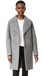 Carven Wool Coat Gris Chine