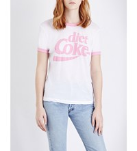 Wildfox Couture Diet Coke Jersey T Shirt Clean White Dream House