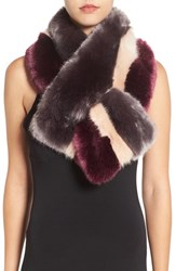 Ted Baker Women's London Stripe Faux Fur Scarf