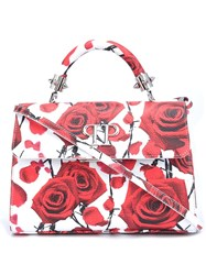 Philipp Plein Mini Rose And Thorn Tote White