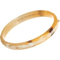 Monique Pean Amber Horn Bangle With Rose Gold Studs