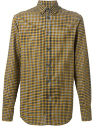2 Button Down Collar Shirt Yellow And Orange