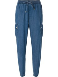 Michael Michael Kors Tapered Cargo Trousers Blue