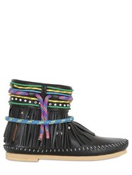 Sarah Summer 10Mm Fringed Nappa Leather Boots