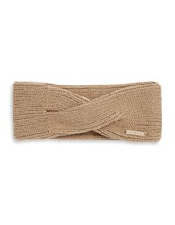 Michael Michael Kors Twisted Knit Convertible Headband Camel