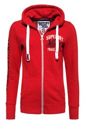 Superdry Track And Field Zip Hoodie Red