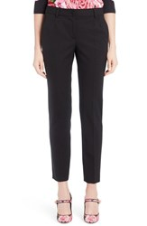 Dolce And Gabbana Women's Stretch Wool Slim Ankle Pants