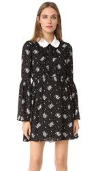 Cinq A Sept Lily Dress Black Multi Ivory