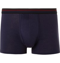 Paul Smith Mith Tripe Trimmed Pima Cotton Boxer Brief Dark Purple