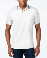 Club Room Men's Sporty Pique Polo Only At Macy's Bright White