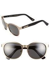 Women's Zeal Optics '6Th Street' 52Mm Polarized Plant Based Retro Sunglasses 6Th Street Rose Gold