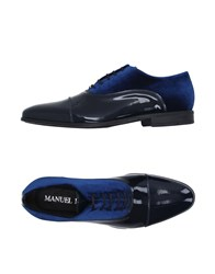 Manuel Ritz Footwear Lace Up Shoes Men Dark Blue