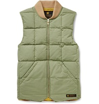 Neighborhood Quilted Cotton Twill Down Gilet Green
