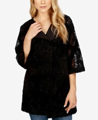 Lucky Brand Embroidered Jacket Black