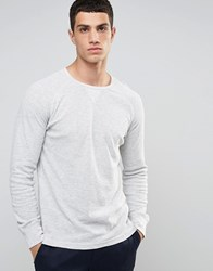 Celio Long Sleeve Top With Raglan Sleeve Gris Chine Grey