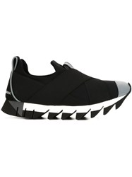 Dolce And Gabbana Ridged Sole Sneakers Black