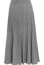 Chloe Ribbed Wool Jersey Maxi Skirt Gray