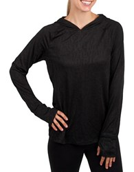 Jockey Helix Long Sleeve Hooded Sweatshirt Black