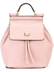 Dolce And Gabbana 'Sicily' Backpack Pink And Purple