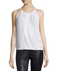Bcbgmaxazria Cristine Wrap Front Sleeveless Blouse Black