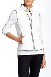 Fate Quilted Vest White