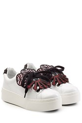 Kenzo Patent Leather Platform Sneakers White