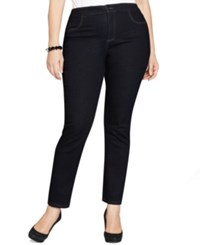 Styleandco. Style And Co. Plus Size Tummy Control Straight Leg Jeans Rinse