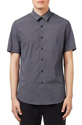 Topman Men's Short Sleeve Daisy Dot Print Shirt