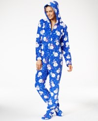 Family Pajamas Women's Supersoft Snowman Hooded And Footed Only At Macy's Blue Snowman