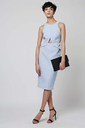 Topshop Classic Cocktail Midi Dress Pale Blue