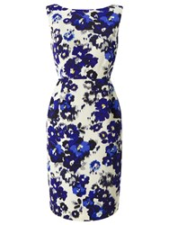 Precis Petite Lori Floral Shift Dress Blue Multi
