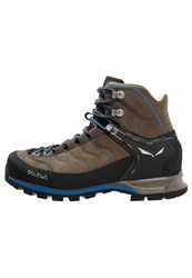 Salewa Mtn Trainer Mid Walking Boots Walnut Royal Blue Dark Brown