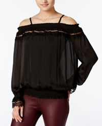 Amy Byer Bcx Juniors' Off The Shoulder Blouse Black