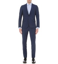 Paul Smith Soho Fit Single Breasted Wool And Mohair Blend Suit Blue