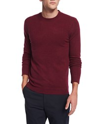 Theory Vetel Cashmere Long Sleeve Sweater Dark Red
