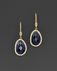 Meira T 14K Yellow Gold Sapphire And Diamond Earrings Gold Blue