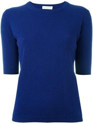 Ballantyne Short Sleeve Jumper Blue