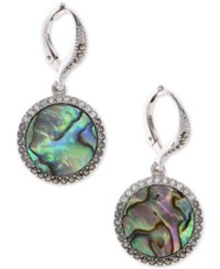 Judith Jack Silver Tone Turquoise And Crystal Drop Earrings Multi Silver