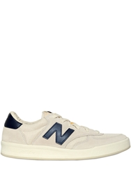 New Balance 300 Suede And Mesh Tennis Sneakers White Navy