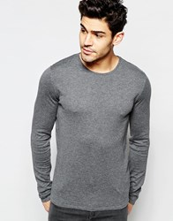 Selected Homme Crew Neck Knitted Sweater Mid Gray Melange