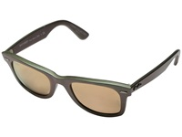 Ray Ban Rb2140 Iridescent Colored Wayfarer 50Mm Venus Metallic Green Light Brown Mirror Pink Fashion Sunglasses Gray