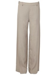 Ilaria Nistri Wide Leg Trousers Nude And Neutrals