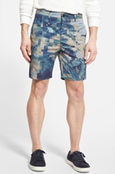 J Brand 'Tropical Camouflage Print' Slim Fit Shorts Blue