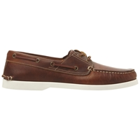 Dune Boat Party Leather Boat Shoes Tan