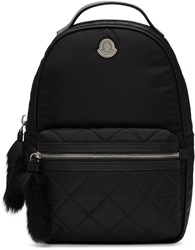 Moncler Black Georgette Backpack