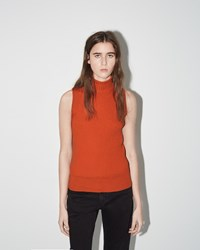 Maison Martin Margiela Sleeveless Turtleneck Mandarine
