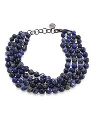 Nest Sodalite 4 Strand Collar Necklace