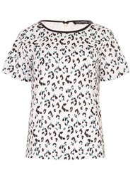 Sugarhill Boutique Evie Leopard Spot Tee Top Cream