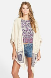 Junior Women's Rip Curl 'Wild Child' Drape Front Cardigan